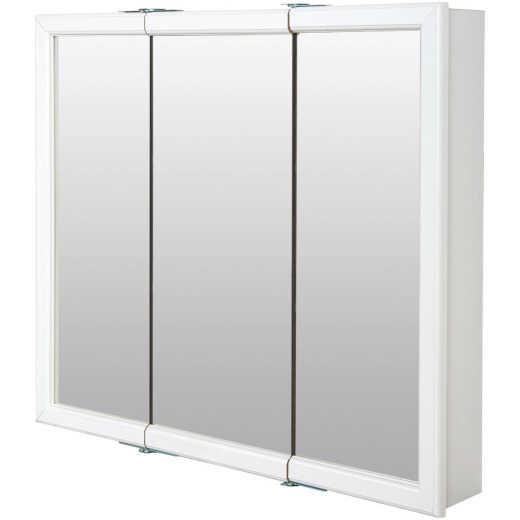 Zenith Zenna Home White 36 In. W x 33 In. H x 6 In. D Tri-View Surface Mount Medicine Cabinet