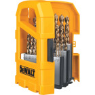 DeWalt 29-Piece Gold Ferrous Pilot Point Drill Bit Set, 1/16 In. thru 9/32 In. Image 5