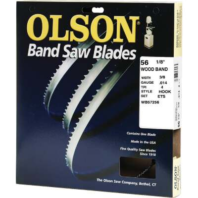 Olson 56-1/8 In. x 3/8 In. 4 TPI Hook Wood Cutting Band Saw Blade