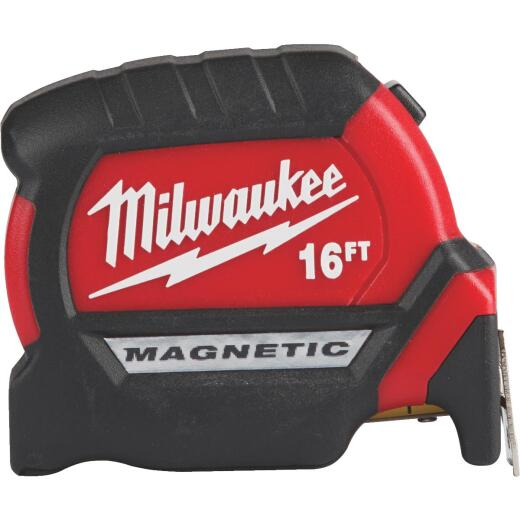 Milwaukee 16 Ft. Compact Wide Blade Magnetic Tape Measure