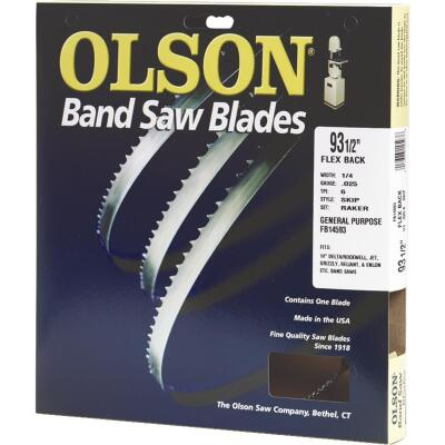 Olson 93-1/2 In. x 1/4 In. 6 TPI Skip Flex Back Band Saw Blade