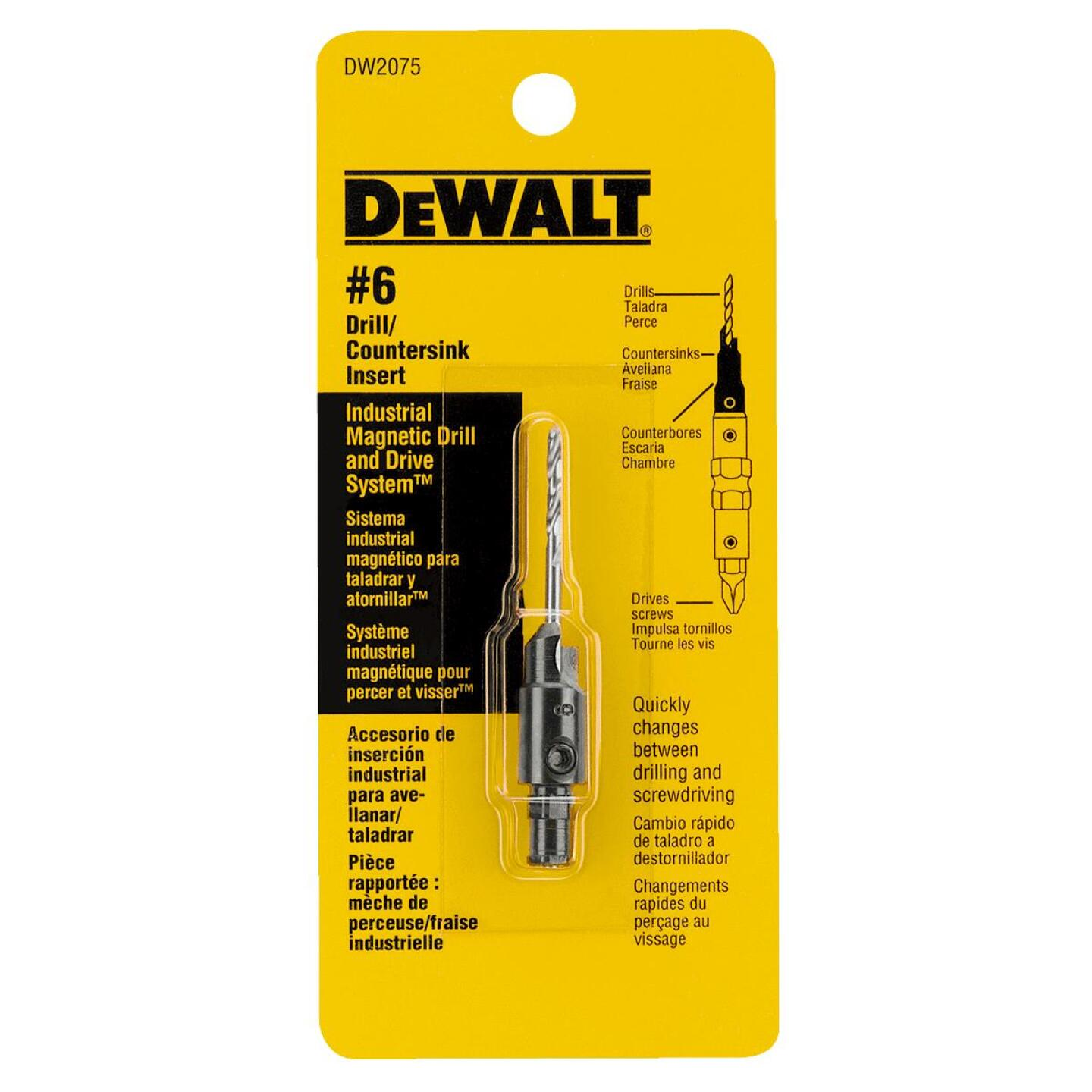DeWalt #6 - 9/64 In. Black Oxide Round Wood Countersink Image 2