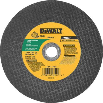DeWalt HP Type 1 7 In. x 1/8 In. x 5/8 In. Masonry Cut-Off Wheel