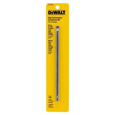 DeWalt Slotted #8-10 6 In. 1/4 In. Power Screwdriver Bit